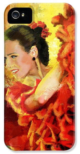 Coordination iPhone 5 Cases - Flamenco Dancer 027 iPhone 5 Case by Catf