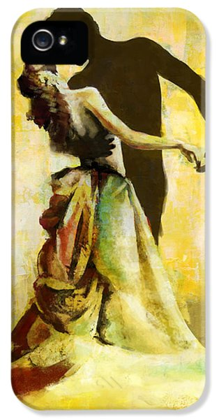 Coordination iPhone 5 Cases - Flamenco Dancer 031 iPhone 5 Case by Catf