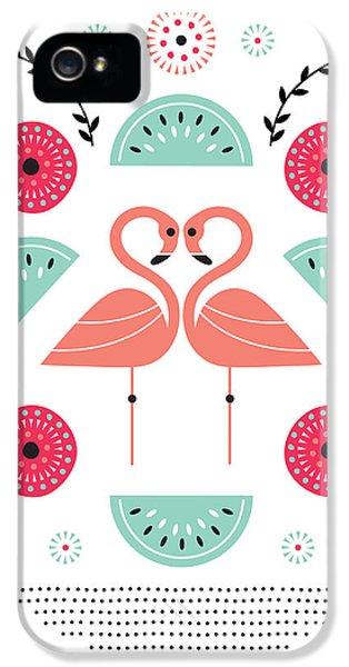 Flamingo Flutter IPhone 5 / 5s Case by Susan Claire