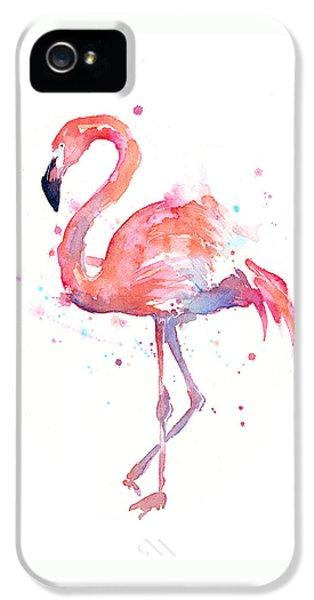 Flamingo Watercolor IPhone 5 / 5s Case by Olga Shvartsur