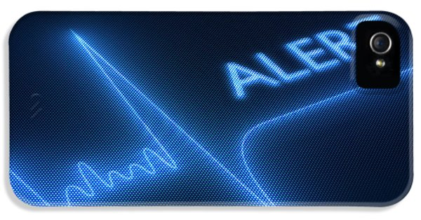 Electronic iPhone 5 Cases - Flat line alert on heart monitor iPhone 5 Case by Johan Swanepoel