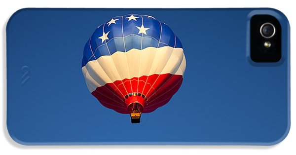 Balloon iPhone 5 Cases - Flight of the Patriot iPhone 5 Case by Mike  Dawson