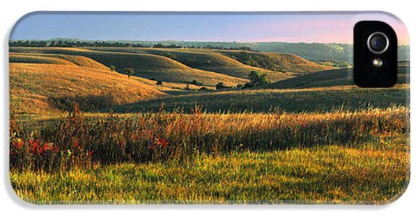 Outdoors iPhone 5 Cases - Flint Hills Shadow Dance iPhone 5 Case by Rod Seel