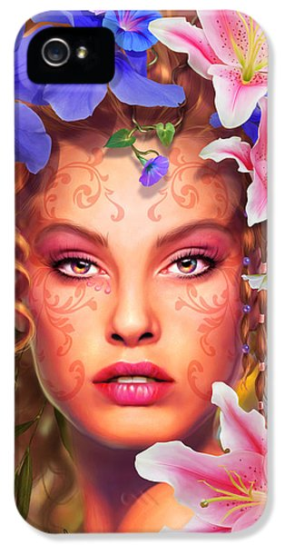 Glamorous iPhone 5 Cases - Flora iPhone 5 Case by Drazenka Kimpel