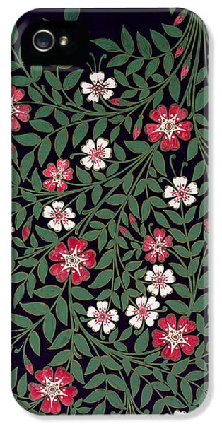 Arts And Crafts Movement iPhone 5 Cases - Floral Design iPhone 5 Case by Owen Jones