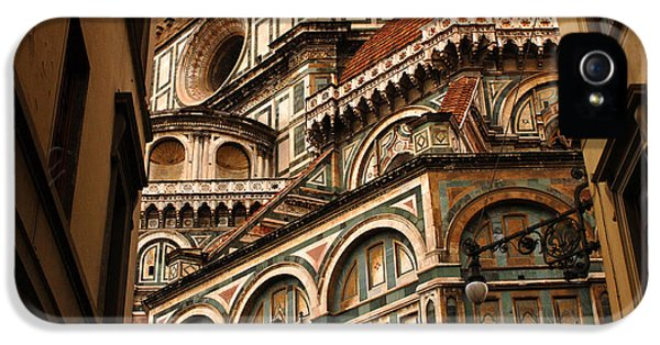 Bob Christopher iPhone 5 Cases - Florence Duomo Detail 1 iPhone 5 Case by Bob Christopher