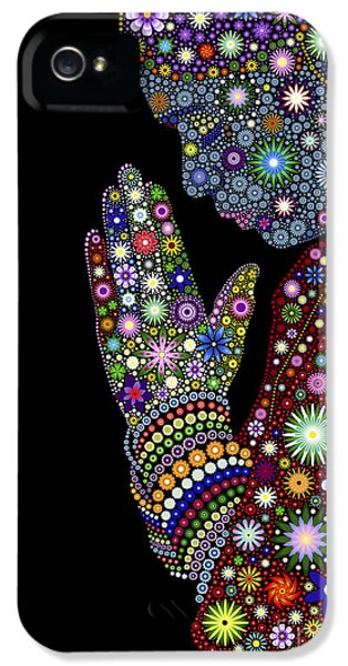 Beliefs iPhone 5 Cases - Flower Prayer girl iPhone 5 Case by Tim Gainey