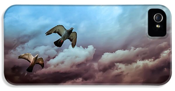 Dreamscape iPhone 5 Cases - Flying before the storm iPhone 5 Case by Bob Orsillo