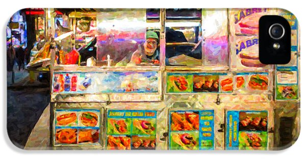Hot Dog iPhone 5 Cases - Food Cart in New York City iPhone 5 Case by Diane Diederich