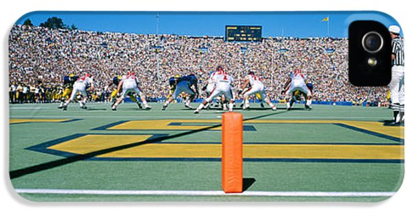Football Game, University Of Michigan IPhone 5 / 5s Case by Panoramic Images