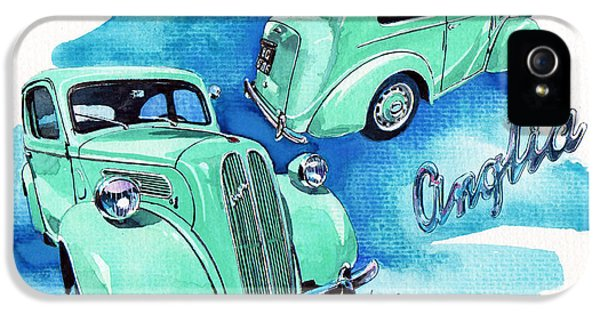 Ford Classic Car iPhone 5 Cases - Ford Anglia E494A iPhone 5 Case by Yoshiharu Miyakawa