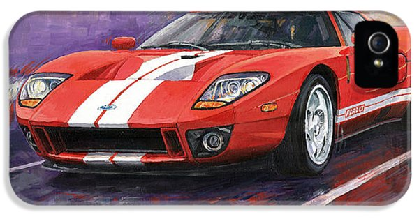 Cars iPhone 5 Cases - Ford GT 2005 iPhone 5 Case by Yuriy  Shevchuk
