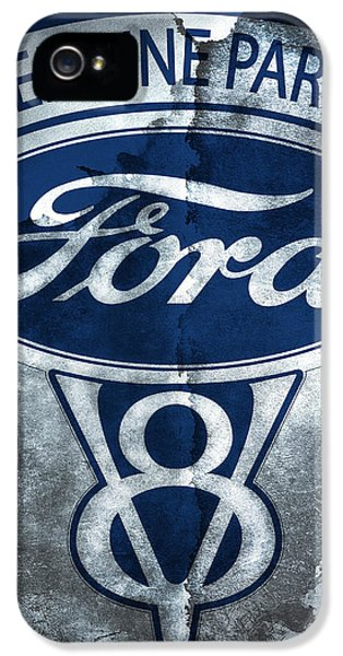 Ford Classic Car iPhone 5 Cases - Ford V8 iPhone 5 Case by Mark Rogan