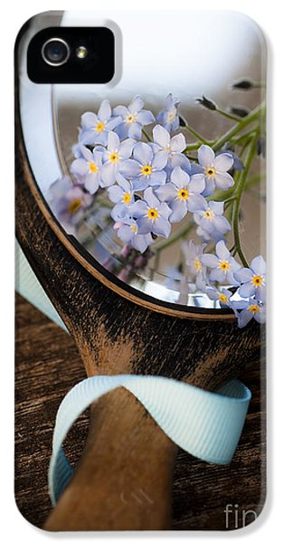 Forget Me Not iPhone 5 Cases - Forget Me Not iPhone 5 Case by Jan Bickerton