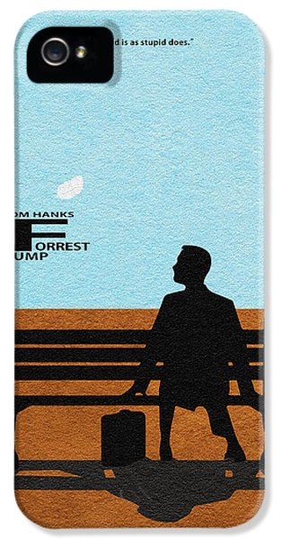 Forrest iPhone 5 Cases - Forrest Gump iPhone 5 Case by Ayse Deniz