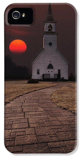 Sun iPhone 5 Cases - Fort Belmont Sunset iPhone 5 Case by Aaron J Groen