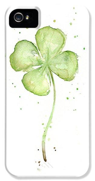 Four Leaf Clover Lucky Charm IPhone 5 / 5s Case by Olga Shvartsur