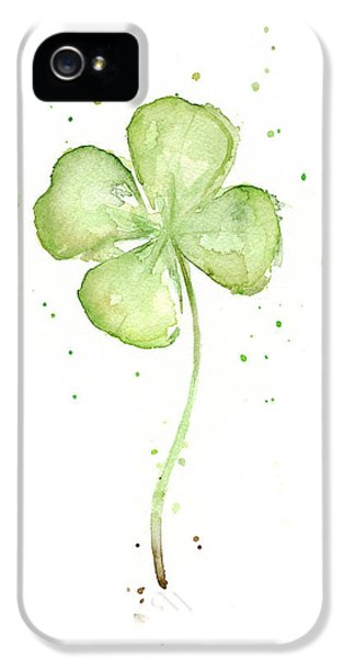 Charming iPhone 5 Cases - Four Leaf Clover Lucky Charm iPhone 5 Case by Olga Shvartsur