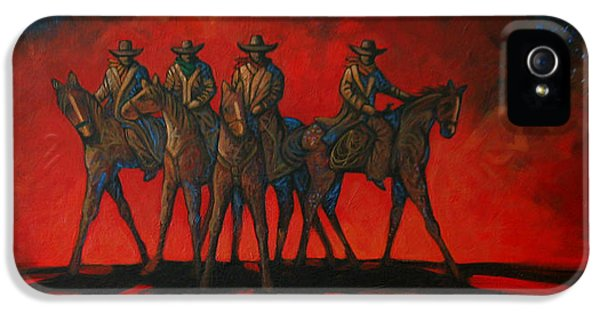 Hot Western iPhone 5 Cases - Four On The Hill iPhone 5 Case by Lance Headlee