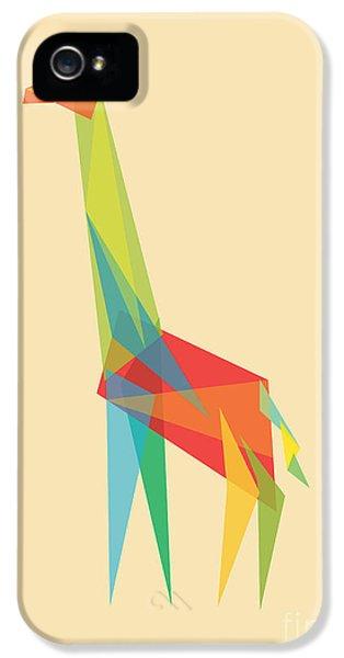 Geometric iPhone 5 Cases - Fractal Geometric Giraffe iPhone 5 Case by Budi Kwan