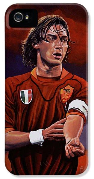 Idols iPhone 5 Cases - Francesco Totti iPhone 5 Case by Paul Meijering
