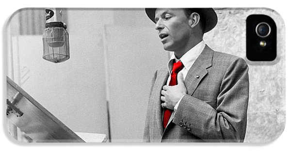 Frank Sinatra Painting IPhone 5 / 5s Case by Marvin Blaine