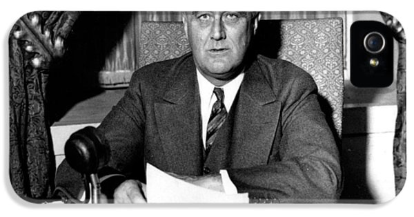 President Of The United States iPhone 5 Cases - Franklin Delano Roosevelt iPhone 5 Case by Unknown