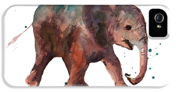 Elephant iPhone 5 Cases - Freddie Funtime Elephant iPhone 5 Case by Alison Fennell