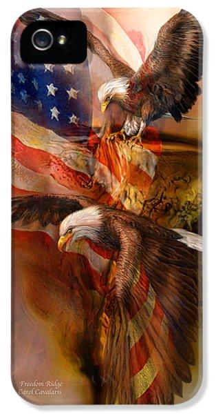 Eagle iPhone 5 Cases - Freedom Ridge iPhone 5 Case by Carol Cavalaris
