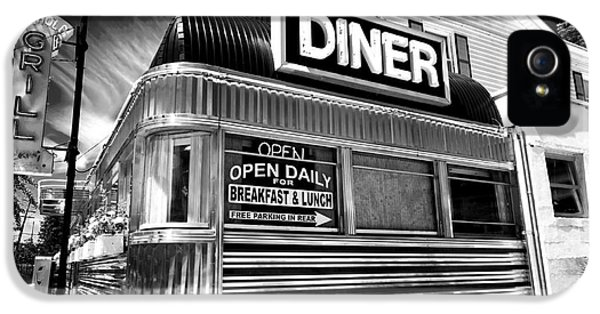 Eatery iPhone 5 Cases - Freehold Diner iPhone 5 Case by John Rizzuto