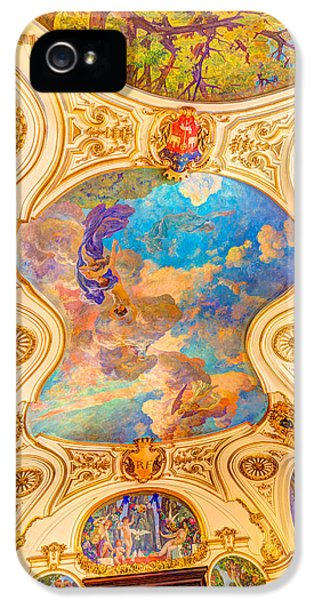 Exuberance iPhone 5 Cases - Fresco in Capitole the Toulouse iPhone 5 Case by Semmick Photo