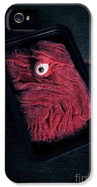 Eyeball iPhone 5 Cases - Fresh Ground Zombie Meat - Its whats for dinner iPhone 5 Case by Edward Fielding