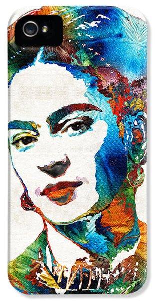 Frida Kahlo Art - Viva La Frida - By Sharon Cummings IPhone 5 / 5s Case by Sharon Cummings