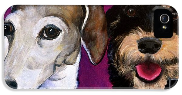 Best Friends Forever iPhone 5 Cases - Friends Forever iPhone 5 Case by Debi Starr