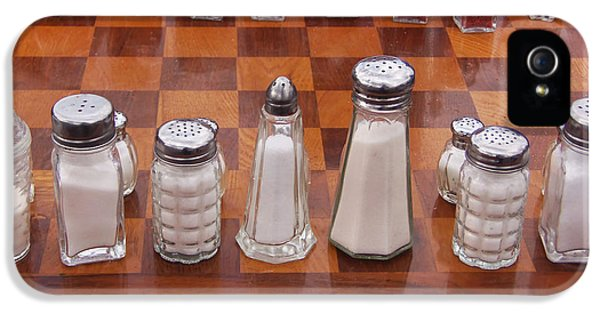 Chess Board iPhone 5 Cases - Funky Chess Set iPhone 5 Case by Art Block Collections