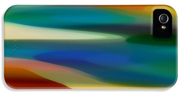 Abstracts iPhone 5 Cases - Fury Seascape 5 iPhone 5 Case by Amy Vangsgard