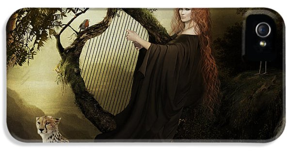 Gaia iPhone 5 Cases - Gaia Greek Goddess iPhone 5 Case by Shanina Conway