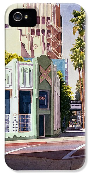 Gale Cafe On Wilshire Blvd Los Angeles IPhone 5 / 5s Case by Mary Helmreich