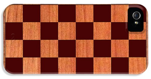 Checker Board iPhone 5 Cases - Game Board iPhone 5 Case by Jack Pumphrey