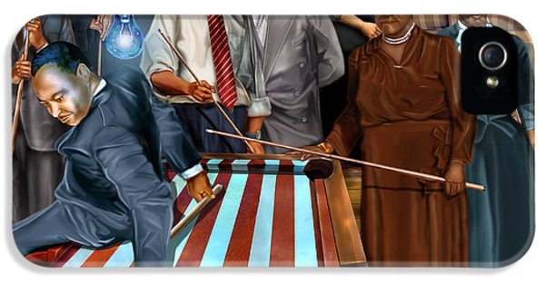 Obama iPhone 5 Cases - Game Changers and Table Runners P2 iPhone 5 Case by Reggie Duffie