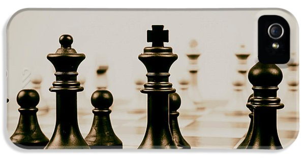 Chess Board iPhone 5 Cases - Game of Kings iPhone 5 Case by Mountain Dreams