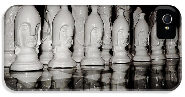 Chessboard iPhone 5 Cases - Game of Strategy iPhone 5 Case by Mountain Dreams