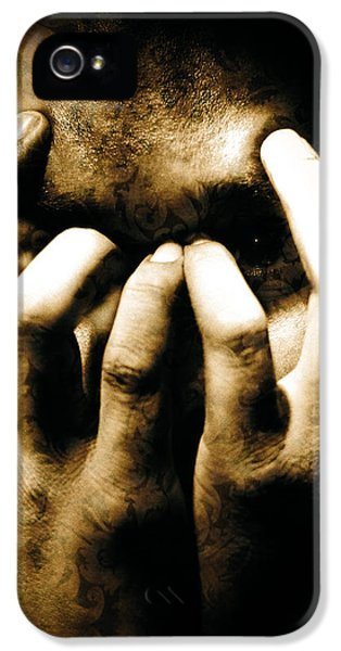 Anger iPhone 5 Cases - Gang Member Hands iPhone 5 Case by Yo Pedro