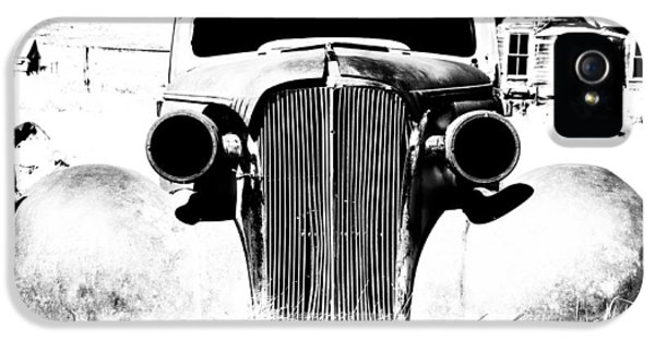 Ghost iPhone 5 Cases - Gangster Car iPhone 5 Case by Cat Connor