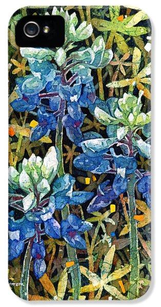 Bluebonnets iPhone 5 Cases - Garden Jewels II iPhone 5 Case by Hailey E Herrera