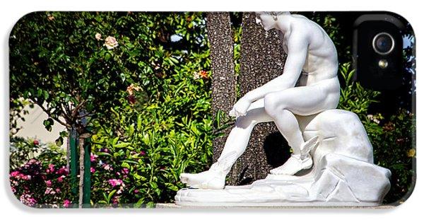 Casa Encantada iPhone 5 Cases - Garden statue - Hearst Castle California iPhone 5 Case by Jon Berghoff