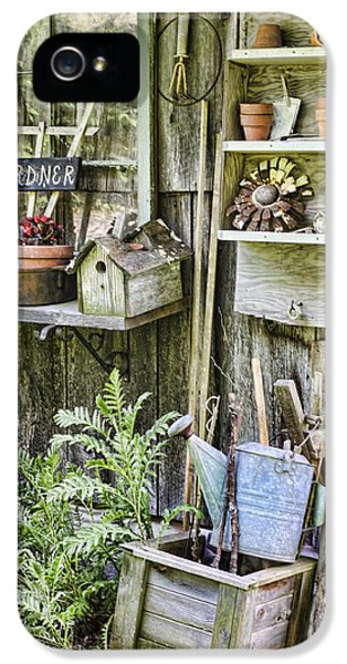 Potting Shed iPhone 5 Cases - Gardener Corner iPhone 5 Case by Heather Applegate