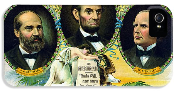 President Of The United States iPhone 5 Cases - Garfield Lincoln and McKinley In Memoriam iPhone 5 Case by War Is Hell Store