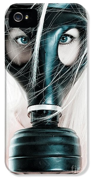 Prepper iPhone 5 Cases - Gas Mask iPhone 5 Case by Jt PhotoDesign