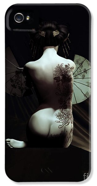 Artistic Nude iPhone 5 Cases - Geisha iPhone 5 Case by Shanina Conway